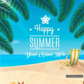 Happy Summer Seasons Wishes Name Write Picture Online Status Edit
