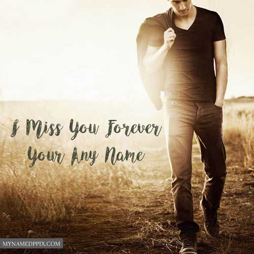 Miss U Image Boy Girl Name Write Photo Edit Online