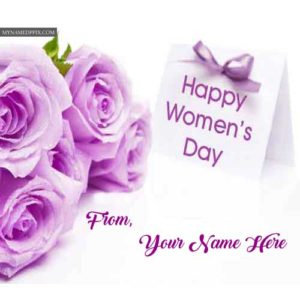 Online Happy Women's Day Wishes Beautiful Wish Card Name Print