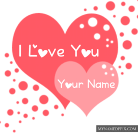 Beautiful I Love U Name Write Profile Greeting Card Pictures
