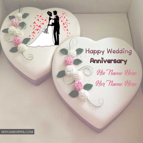 Wedding Anniversary Cake With Name Photos Edit Images