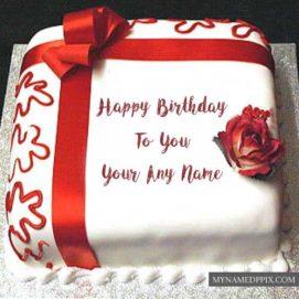 Write Name Boyfriend Happy Birthday Cake Photo Online Create