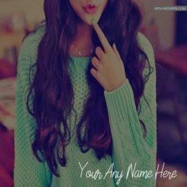 Write Name Cool Style Girl Profile Photo Online Name Edit