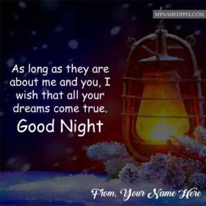 Write Name Good Night Wishes Light Lamp Image Send