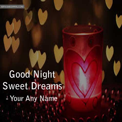 Write Name Good Night Wishes Lighting Candles Pictures Sent Edit