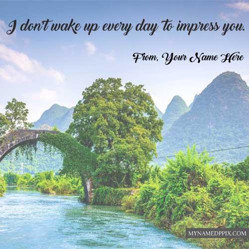 Awesome Day Motivation Quotes Status Write Name Photos Sending