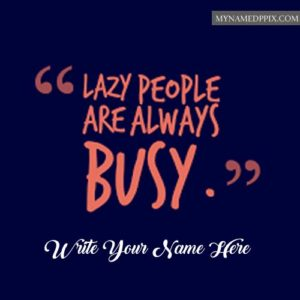 Name Writing Busy Whatsapp Status Photo Quotes Card Create