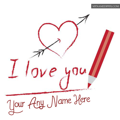 New Beautiful Love U Greeting Cards With Name Edit Pictures