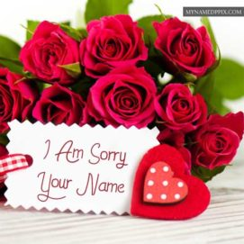 Sorry Flowers Greeting Card Name Write Send Online Free