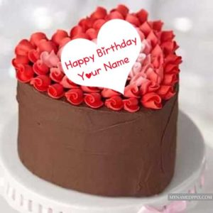 Velvet Birthday Cake Write Name Wishes Images Create Profile Pics