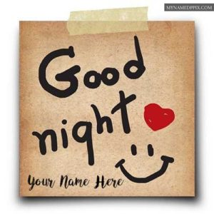 Write Name Good Night Wishes Greeting Card Send Pictures