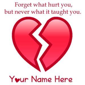 Write Name Heart Break Sad Quotes Message Status Photos Editor