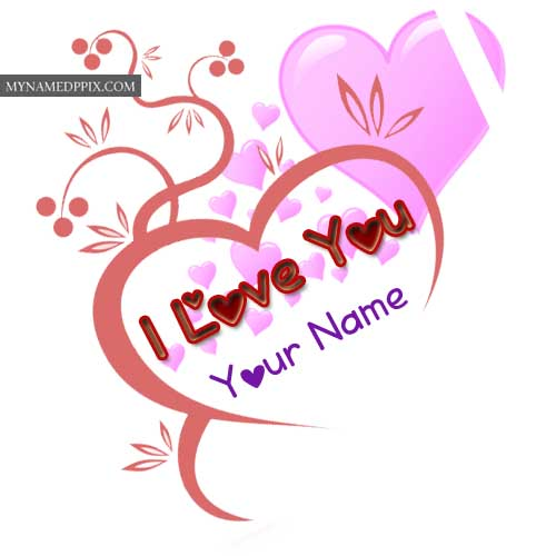 Write Name Love Beautiful Heart Design Greeting Card Picture