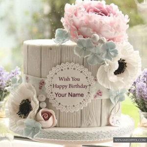 Write Name Beautiful New Birthday Cake Flowers Decoration Photos