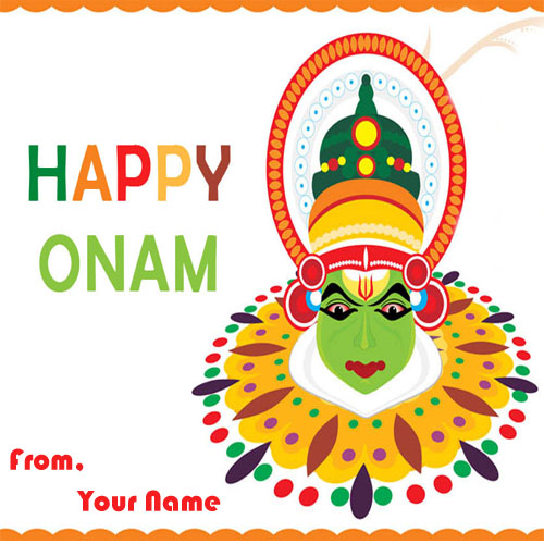 2018 Happy Onam Wishes Name Edit Greeting Card Photos Send