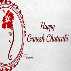 Create Greeting Card Ganesh Chaturthi Wishes Name Status Image