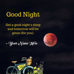 Good Night Quotes Greeting Card With Name Pictures Send Online