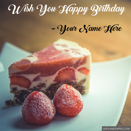 Write Name Birthday Sweet Cake Greeting Card Pictures Create Online