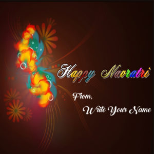 Beautiful Navratri Wishes Status Picture Name Generator Photo Online