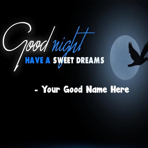 Good Night Wishes Best Name Write Photo Maker Online Editor