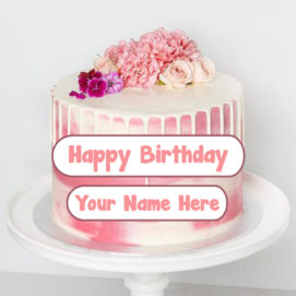 Write Name Awesome Birthday Cake Wishes Status Images Free
