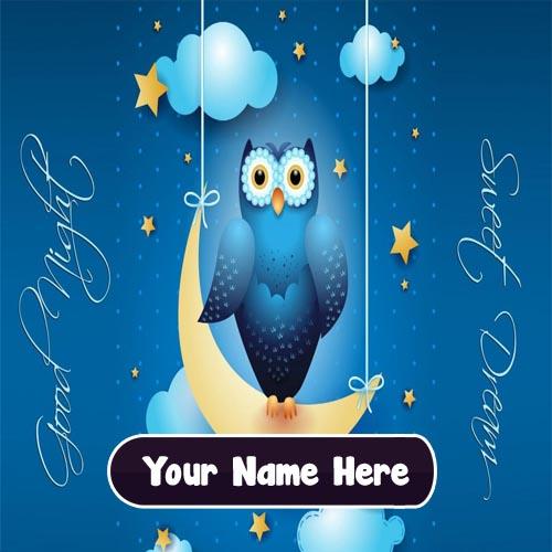 Write Name Special Wishing Good Night Image Editor Online
