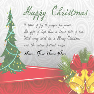 2019 Happy Christmas Wishes Quotes Wish Card Name Writing