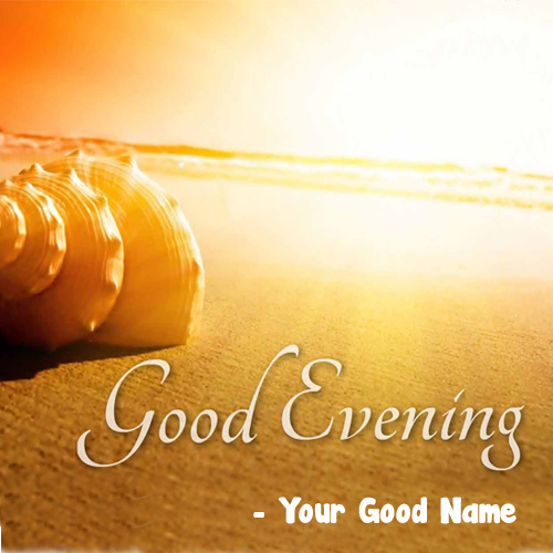 Awesome Evening Wishes Name Write Status Download Free