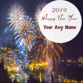 Awesome Happy New Year 2019 Name Write Firework Pictures