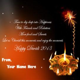 Diwali Greeting Card Image Name Editor Online Status
