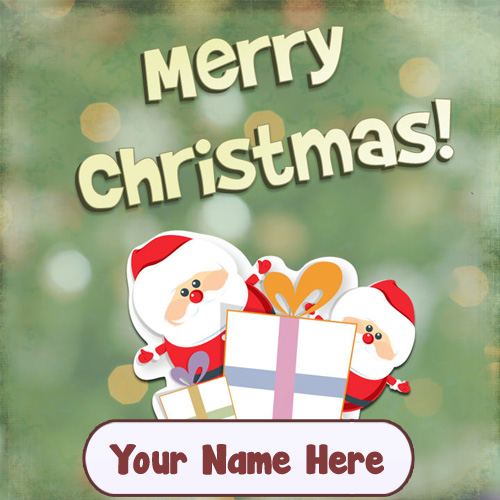 Happy Merry Christmas Name Wishes Santa Pictures Download