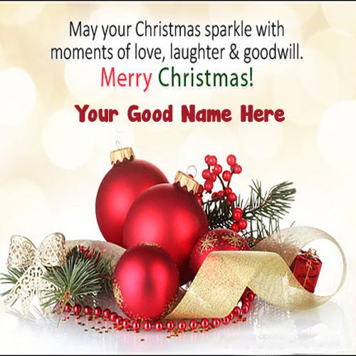Name Write Christmas Greeting Card Whatsapp Status Download