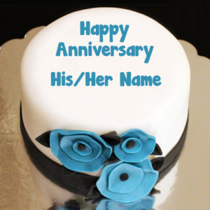 Sweet Anniversary Cake Name Wishes Send Photo Online