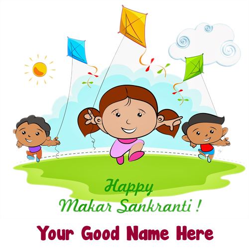 2019 Happy Makar Sankranti Wishes Name Create Image
