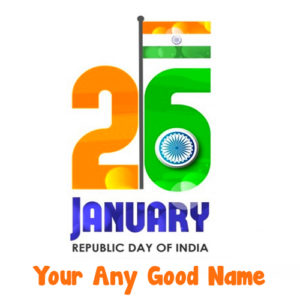 2019 Indian Republic Day Wishes Name Image Create