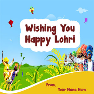 Happy Lohri Wishes Name Status Photo Send Editor