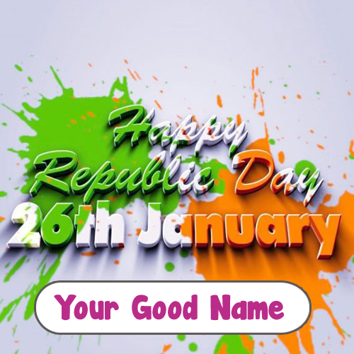 Happy Republic Day Unique Name Wishes Status Photo