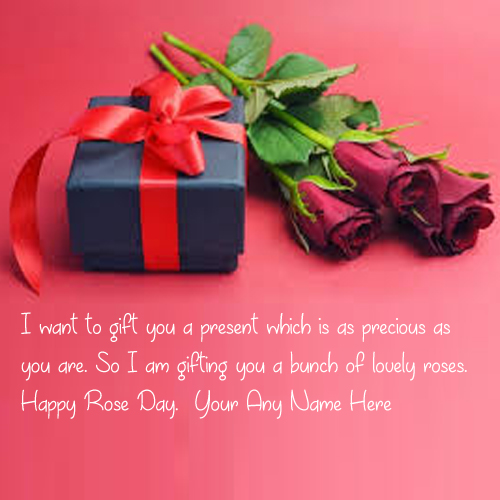 Happy Rose Day Wishes Greeting Name Card Image Create