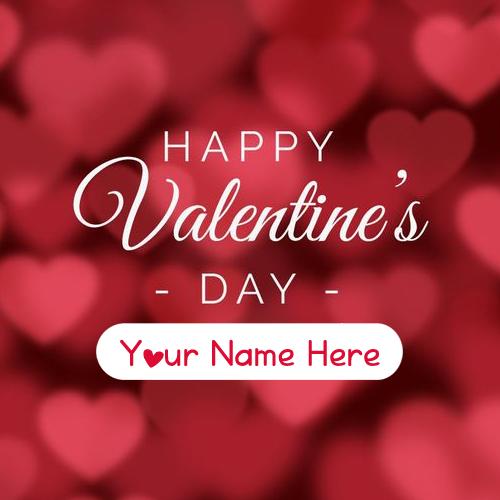 Happy Valentines Day 2019 Unique Name Write Image