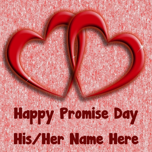 Write Name Happy Promise Day Wishes Unique Image Create