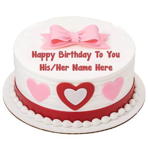 Happy Birthday Cake Girlfriend Name Wishes Image