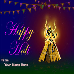 Online Happy Holi Name Write Greeting Card Images 2019