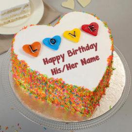 Astonishing Beautiful Heart Look Cake Image My Name Pix Cards Funny Birthday Cards Online Elaedamsfinfo