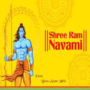 Name Write Rama Navami 2019 Beautiful Greeting Card Send