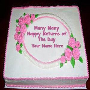Flowers Happy Birthday Name Wishes Cakes