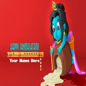 Janmashtami Greeting With Name Image Pic