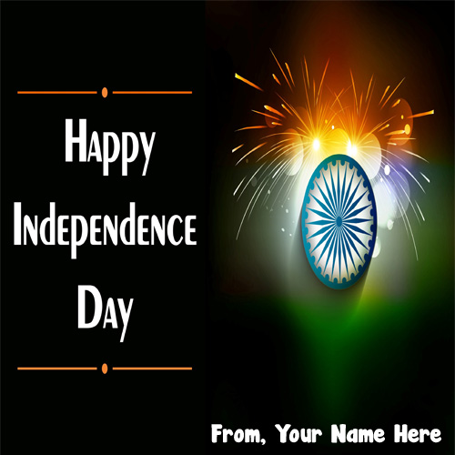 Name Write Greeting Pic Independence Day