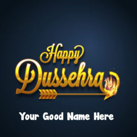 Your Name Wish Card 2019 Happy Dussehra