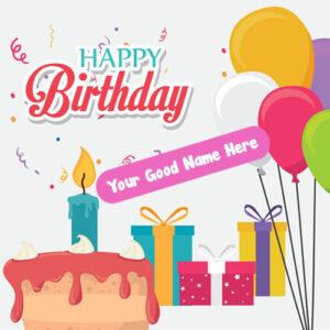 Customized Name Write Birthday Card Free