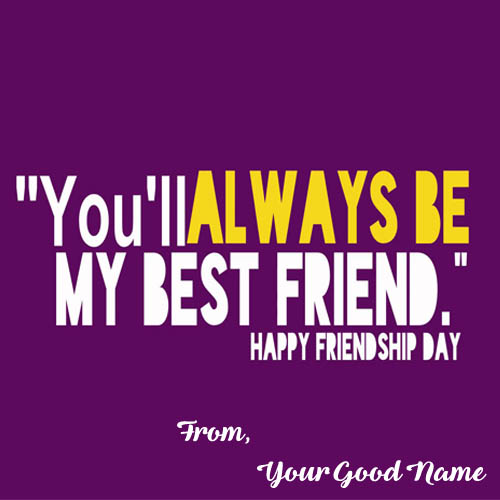 Happy Friendship Day Images On Name Card